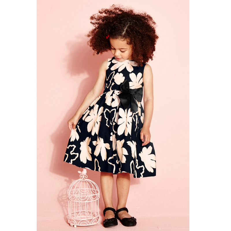 2018 Girls Dresses Summer Style Baby Girls Dress Floral Printed