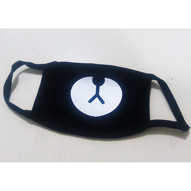 Fashion-Black-Anti-Dust-Cotton-Cute-Bear-Masks-Anime-Cartoon-Kpop-Lucky-Bear-Wom1en-Men-M1uffle