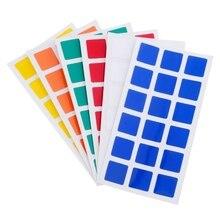 6 pcs Dayan Magic Cube PVC Stickers for Dayan GuHong 3x3x3 57mm Magic Cube Puzzle Toys