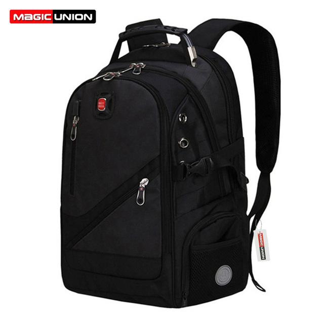 Magic union marca moda homem mochila moda mochila de poliéster saco de viagem dos homens saco dos homens computador homem mochilas packsack