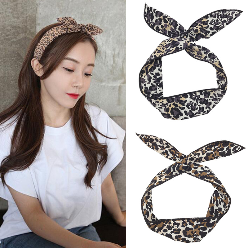Quality In Obliging Korea Ribbon Bunny Hair Accessories For Girls Hair Bands Rabbit Ears Hairband Flower Crown Headbands Hair Bows Excellent