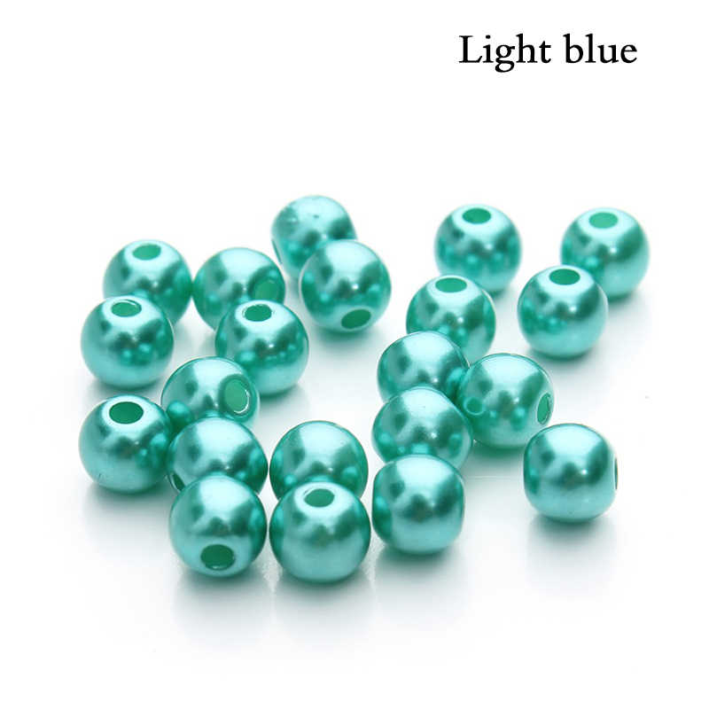 100PCS 6mm Imitation ABS Pearl Beads DIY Beads Necklace Bracele Simulated-pearl Beads Round Plastic Loose Made of Jewellery