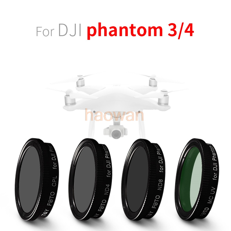 wtianya cpl+mcuv+nd4+nd8 nd Neutral Density Lens Filter Protector for DJI phantom 3 phantom 4 camera drone portable storage lens filter bag mcuv cpl nd4 nd8 lens filters for dji phantom 4 phantom 3 advanced standard kit
