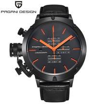 Мужские Часы Лучший Бренд Класса Люкс Хронограф Часы Мужчины Водонепроницаемый Военная Кварцевые Наручные Часы Мужчины Большой Циферблат Часы relojes hombre