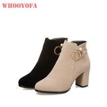 6581b4a1b 2018 Nova Marca de Qualidade Inverno Bege Volta Mulheres Ankle Boots  Sensuais Saltos Senhora Sapatos de