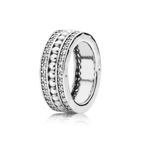 SHINETUNG 1:1 S925 Sterling Silver Forever Ring Ladies' Fashion Luxury Jewelry