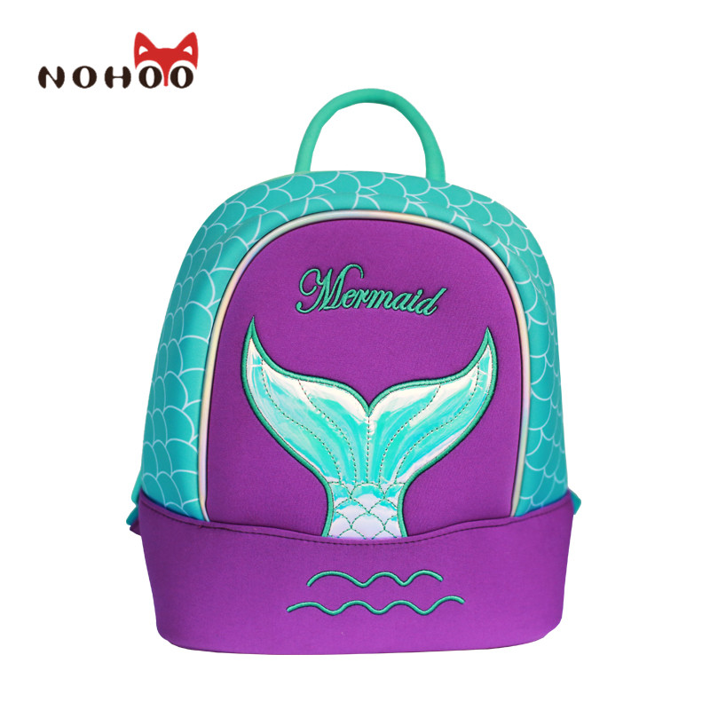 ФОТО NOHOO Butterfly Waterproof Children School Bags Mermaid Animals School Backpacks Teenage Girls Large Capacity Baby Backpack