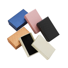 6pcs/lot Multi Colours Earrings Ring Field 8X5X2.5cm Diamond Sample jewellery Reward Packing containers With Black Sponge Paper jewellery field Show
