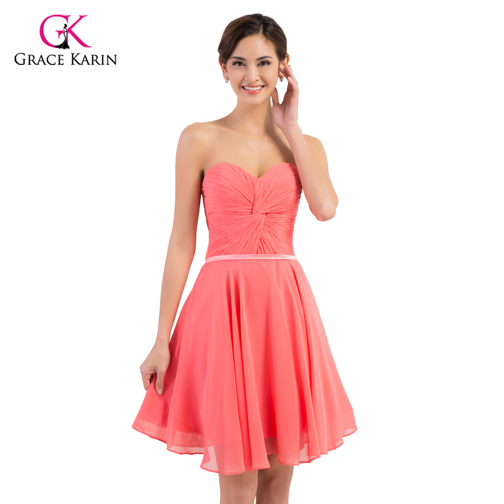 Compare prices on bridesmaid dresses watermelon online shopping bridesmaid dresses grace karin 2017 chiffon watermelon red cheap short women wedding party dress bridemaid dress ombrellifo Images