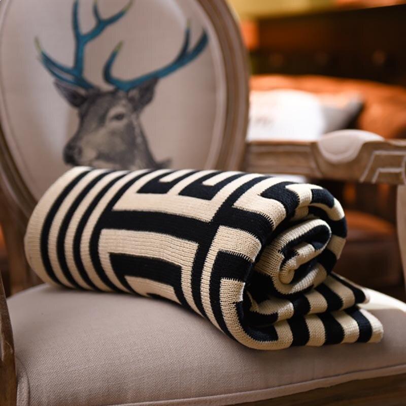 Beroyal marque jeter couverture-1 PC 100% coton tricoté couverture adulte couverture printemps/automne canapé couverture cobertor 130x160 cm