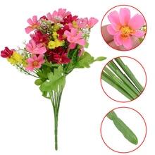 1 bunch 28 Heads Artifical Flower Silk Chrysanthemum Bouquet DIY Home Wedding Party Decor