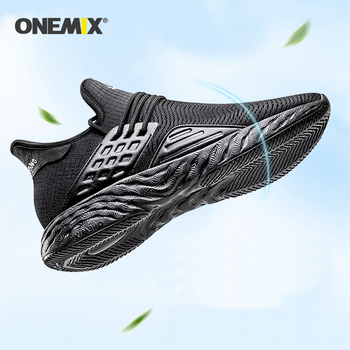 ONEMIX running shoes for men nice retro gym Athletic Trainers Black Zapatillas Sport Shoe Man Outdoor Walking Sneakers