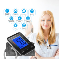 LCD Upper Arm Blood Pressure Monitor CE FDA ROHS Approved with Cuff Digital Pulse Rate/2 User Mode/90 Data Memory/IHB Indicator