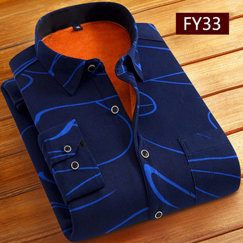 Fashion Men Winter Warm Flannel Plaid Dress Shirts Cotton Long Sleeve Men Work Shirts Brand Casual Slim Fit Camisa Social Shirts Multan