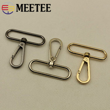 Meetee 2/4pcs 50mm Luggage Hardware Accessories Shoulder Strap Hook Buckle Keychain DIY Metal Lobster Clasp Bag Decoration F4-1 цена 2017