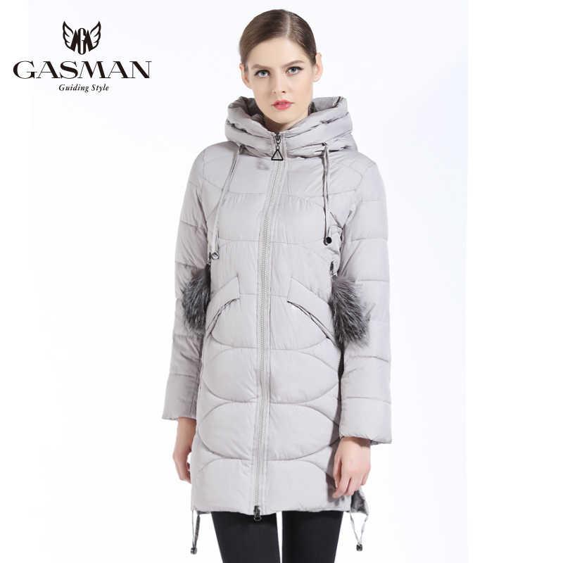 GASMAN 2019 nouveau manteau d'hiver vers le bas femmes vestes et manteaux marque de mode femmes Parka à capuche hiver épais manteau