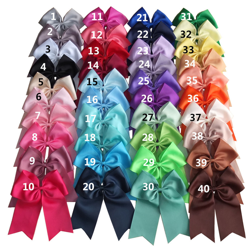 2 pcs 8 inch Bow clips Cheerleading bow Large hair bow Hair clips Barrettes Holiday Hairbows Girls Women Hair Accessories