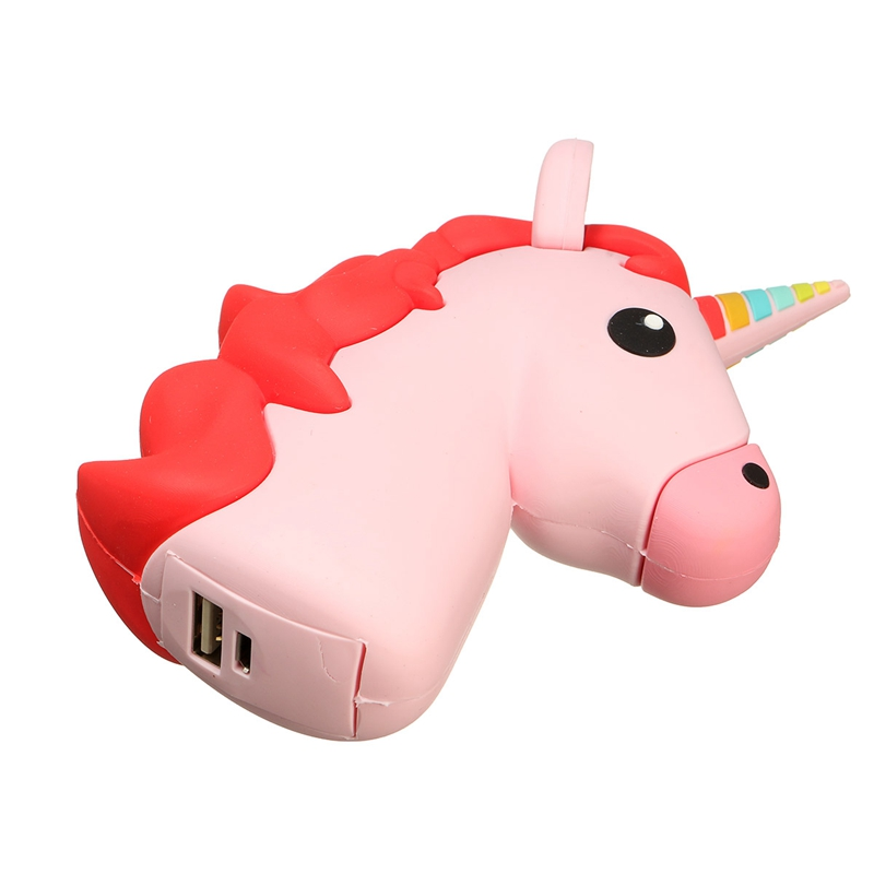 Universal Portable Unicorn Shaped 2600mAh Backup Battery Charger Power Bank Charging External Battery Pack For iPhone 7 Phones