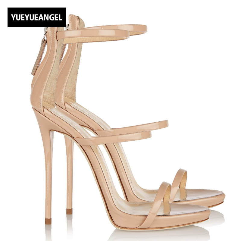 2018 Korean New Women Shoes Silver Party Shoes Female Hollow Out High-Heeled Sandals Sexy Peep Toe Women Zipper Shoes Plus Size denim zipper hollow worn stiletto womens sandals