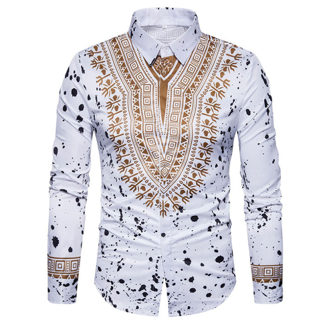 3d Print Shirt Men 2017 Traditional African Dashiki Men