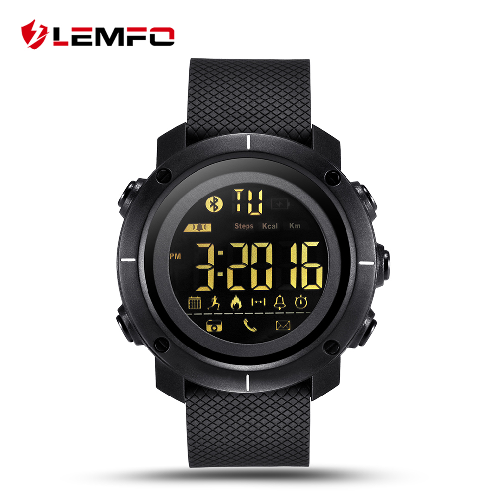 LEMFO LF19 Smart Watch Waterproof Smartwatch Bluetooth Pedometer Message Phone Reminder for IOS Android Phone