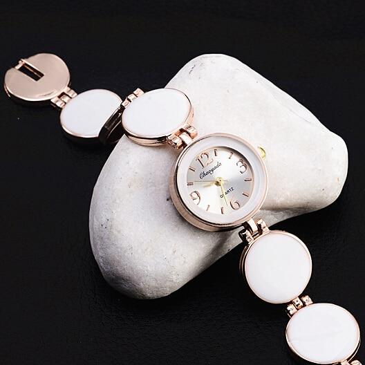 Kadın Saatler Moda Casual Bayanlar İzle Yuvarlak Dial Bilezik Kadın Saatler Kol Saati relogio feminino montre femme saat reloj