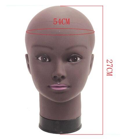 Cabeça para Peruca Afro Modelo Manequim Feminino Manequim Fazendo Fazendo Prática Styling Cabeleireiro Hat Stand 54 cm
