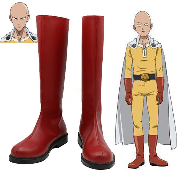 New One Punch Man One Punch Man Saitama Cosplay Boots Anime Shoes Custom Made