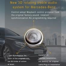 цена на Car styling Door Speaker Design Interior Mouldings Decoration 3D rotating high loud speaker for Mercedes-Benz C CLASS W205