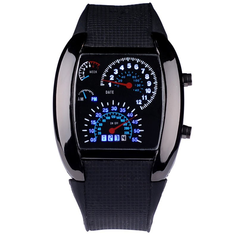 Digital Watches Saati Men Fashion Relogio Masculino Led Silicone Erkek Kol Car-Design