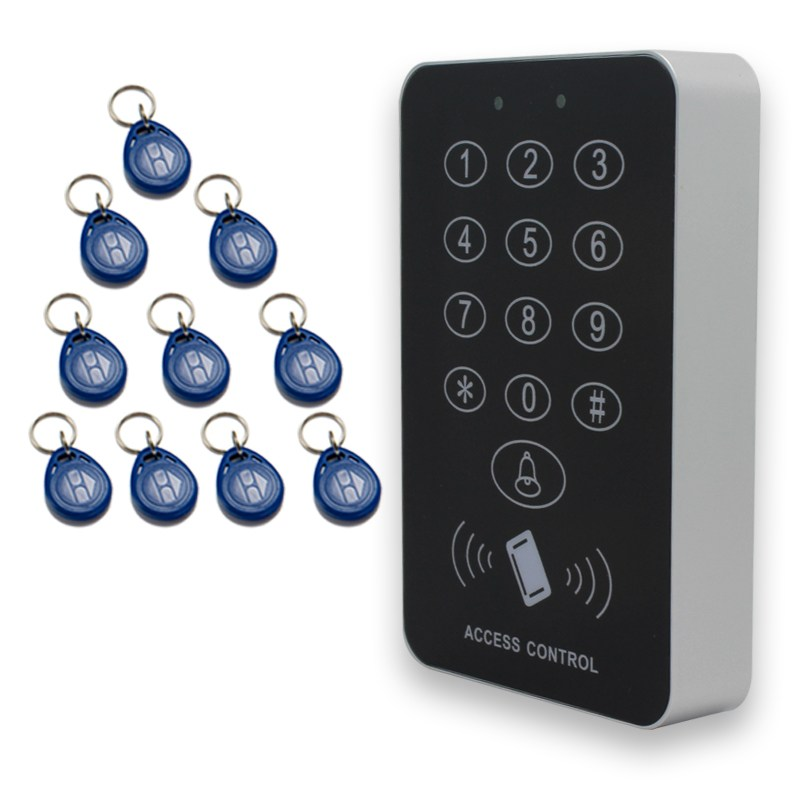 Safurance Security RFID Proximity Entry Door Lock Access Control System 500 User with 10 Keys Home Safety Access Control rfid entry door lock id card access control system home office security 10 keys use for any need to access control channel