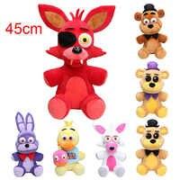 45CM duży rozmiar pięć nocy u freddy'ego FNAF pluszowa zabawka Foxy freddy fazbear Bonnie Mangle foxy chica pluszowa lalka zabawka dla dzieci