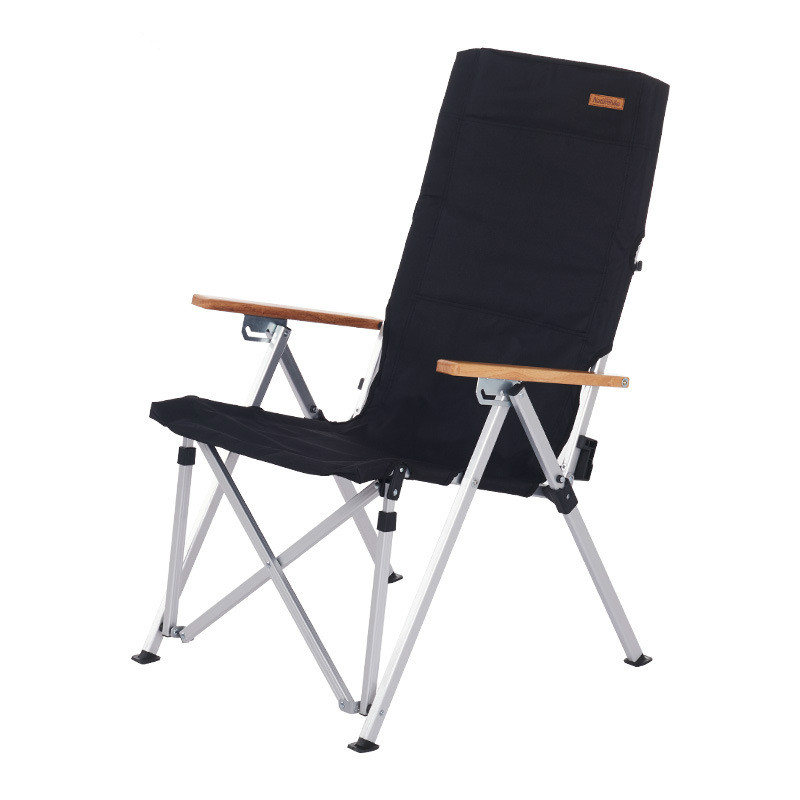 Outdoor ultralight folding camp chair aluminum alloy portable folding chair 600D Oxford cloth load for 120kg with Storage bag folding beach chair ultralight folding camp chair moon chair breathable mesh fishing chair 600d oxford cloth aluminum alloy
