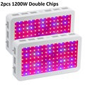 2PCS BOSSLED 1200W Double Chips LED Grow Light Full Spectrum 410-730nm For Indoor Plants and Flower with Very High Yield