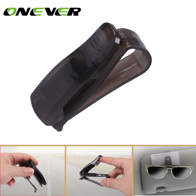 81d33b89d3 Onever Car Fastener ABS Car Vehicle Sun Visor Glasses Clip Sunglasses  Eyeglasses Holder Card Ticket Pen