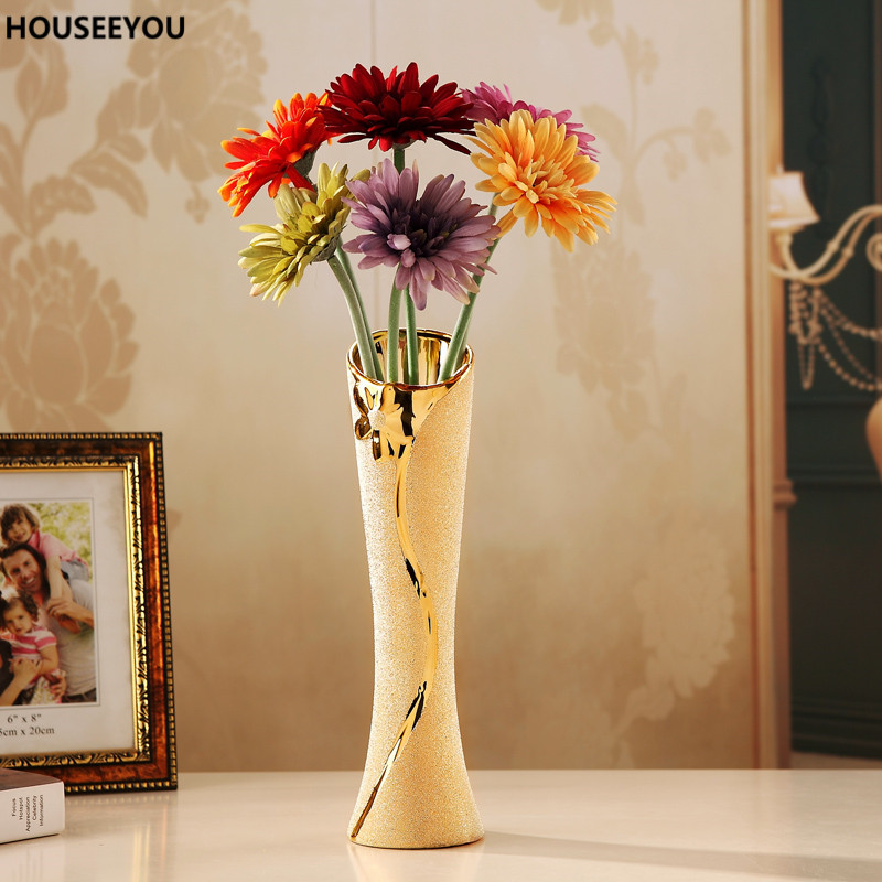 Modern ceramic vases decorative flower container vase for home modern ceramic vases decorative flower container vase for home dining living room wedding tabletop decor accessories ornaments junglespirit Images