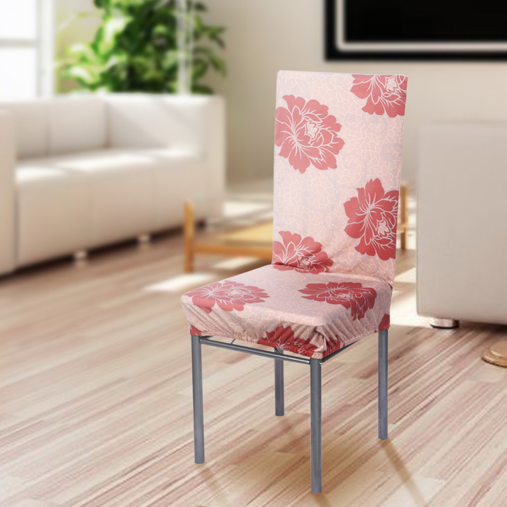 Removable Stretch Elastic Slipcovers Home Stool Chair Seat Covers Dining Chai