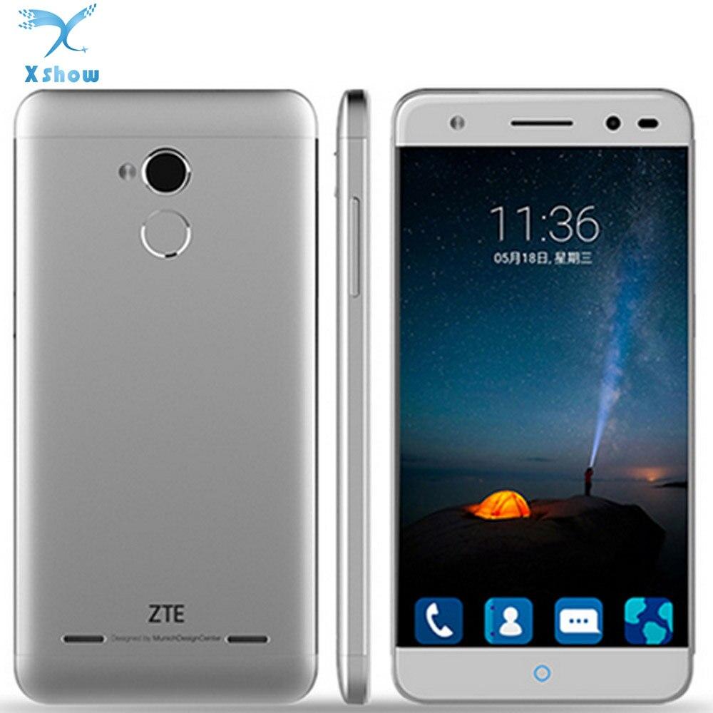 Цена за Оригинал ZTE Blade A2 MT6750 Окта основные 1.5 ГГц Android 5.1 2 ГБ RAM 16 ГБ ROM 4 Г Мобильный Телефон 5.0 Дюймов 13.0MP Dual SIM отпечатков пальцев