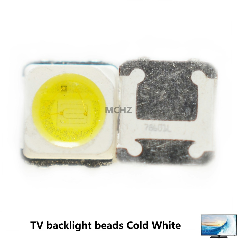 100PCS Samsung 3228 2828 LED SMD TV Backlight 3V 1.5W 500ma LED Beads Cool White For Samsung SPBWH1320S1EVC1B1B Free Shipping