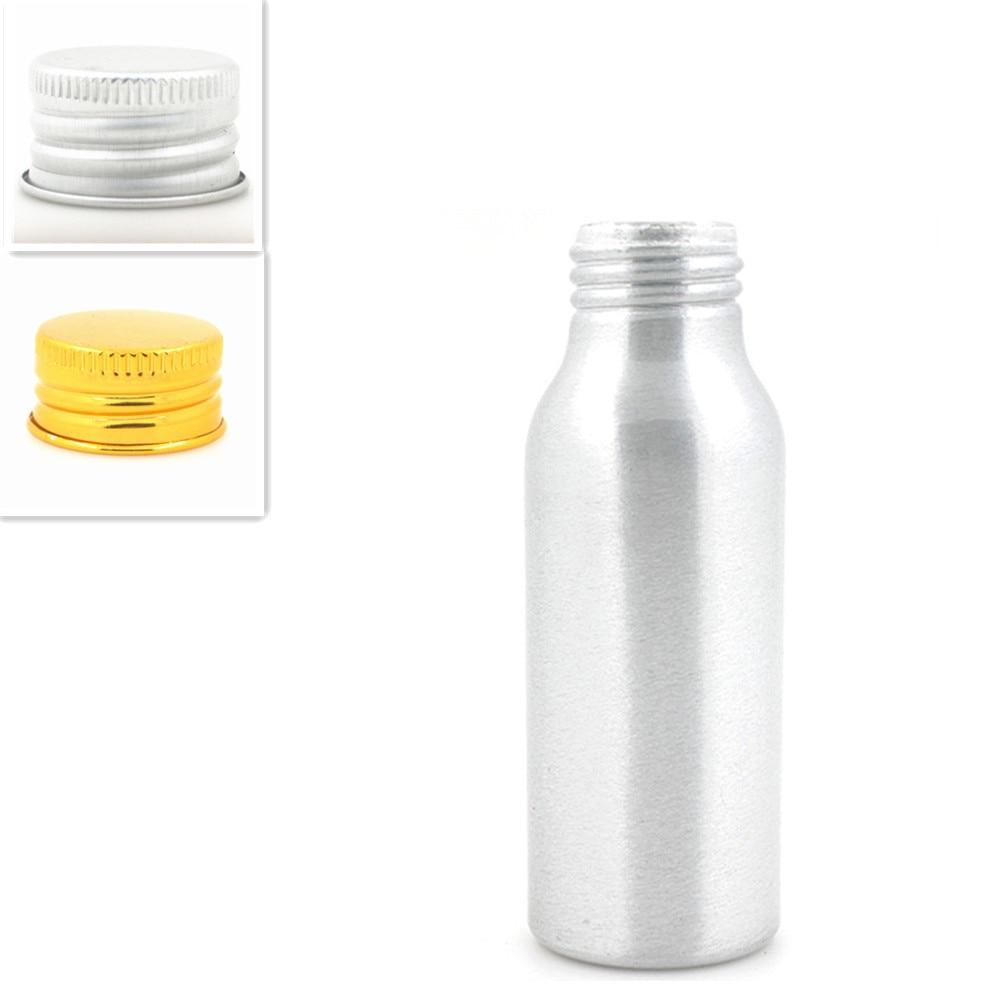 2oz/60ml empty aluminum Bottles, sliver metal bottle with gold/silver Lined Aluminum Lid lid