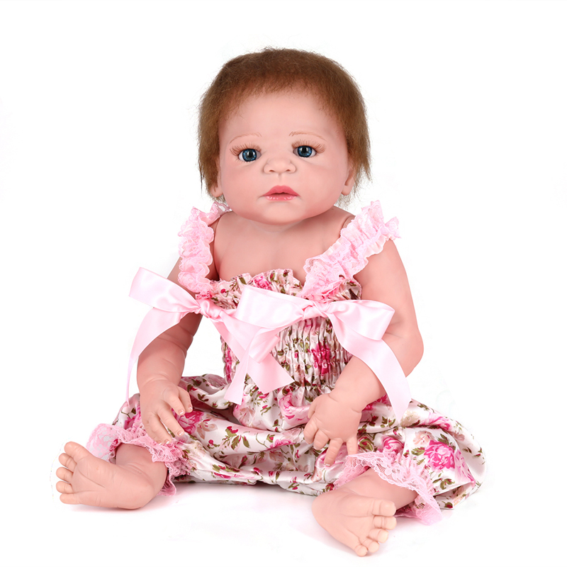 55cm Full Vinyl BeBe Doll Reborn Silicone Lifelike Baby Doll for Girls Toys Soft Silicone Reborn Babies Doll Kids Toys55cm Full Vinyl BeBe Doll Reborn Silicone Lifelike Baby Doll for Girls Toys Soft Silicone Reborn Babies Doll Kids Toys