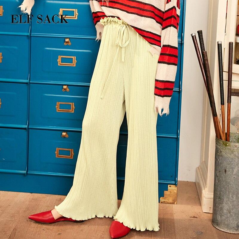 ELF กระสอบฤดูใบไม้ร่วงใหม่ผู้หญิงกางเกงสบายๆกว้างขากางเกงผู้หญิงกางเกงชีฟองกลางเอว Party กางเกง Slim Streetwear กางเกง-ใน กางเกงและกางเกงรัดรูป จาก เสื้อผ้าสตรี บน   2