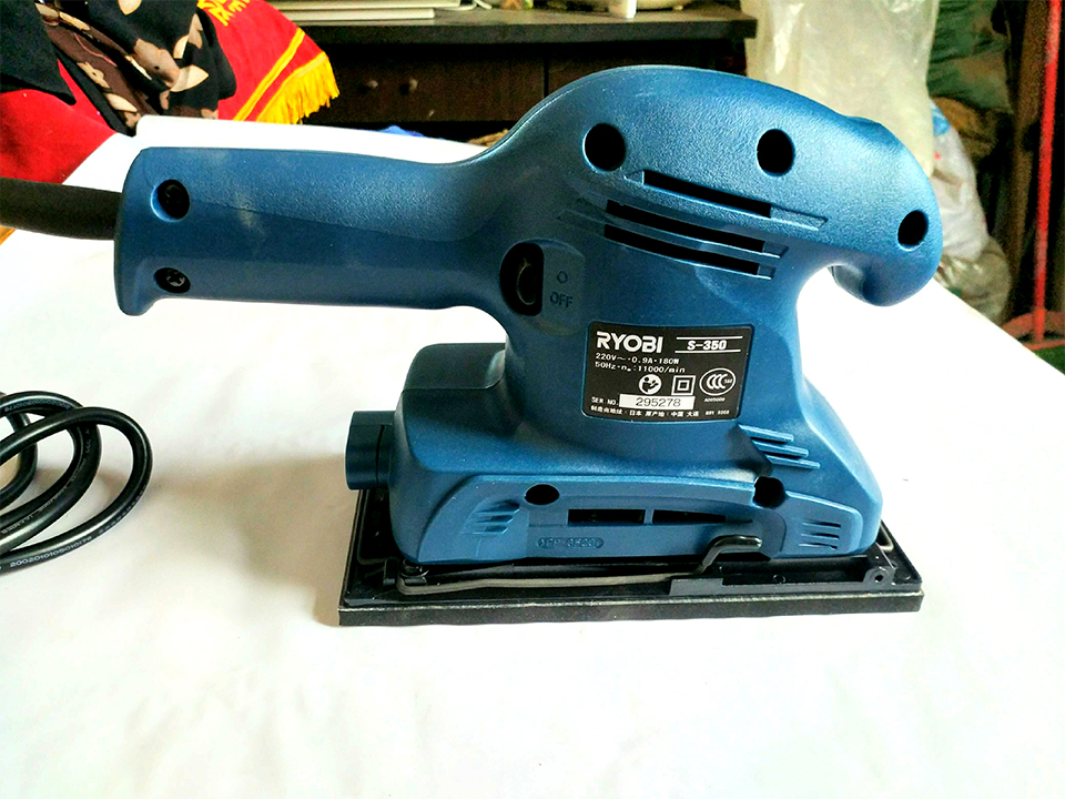 Japan RYOBI S-350 Sander Woodworking sandpaper machine polishing 180W 11,000 rpm 5inch this fall 125mm pneumatic sander disc sandpaper machine bd 0142