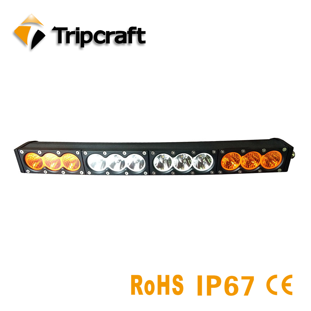 22 Amber Curved Led Light Bar 27.2 single Row 120w  Led Work Light For 4WD 4X4 Long Lamp