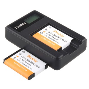 Image 2 - PROBTY 2 PCS ENEL19 EN EL19 Batterie + LCD Ladegerät für Nikon Coolpix S32 S33 S100 S2500 S2750 S3100 S3200 S3300 s3400 S3500 S4100