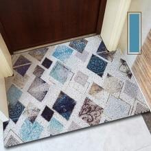 Ins geometry entry mat PVC Wire loop Door mat Entry door carpet Outdoor mat custom made Diamond flower pattern non-slip floormat цены
