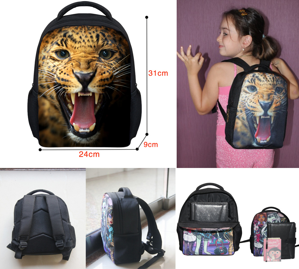 FORUDESIGNS 12'' New Fashion Mini School Backpacks 3D Tiger Head Kids  Backpack for Boys Cute Children Animal Dog Owl Bags -in Backpacks from  Luggage & Bags ...