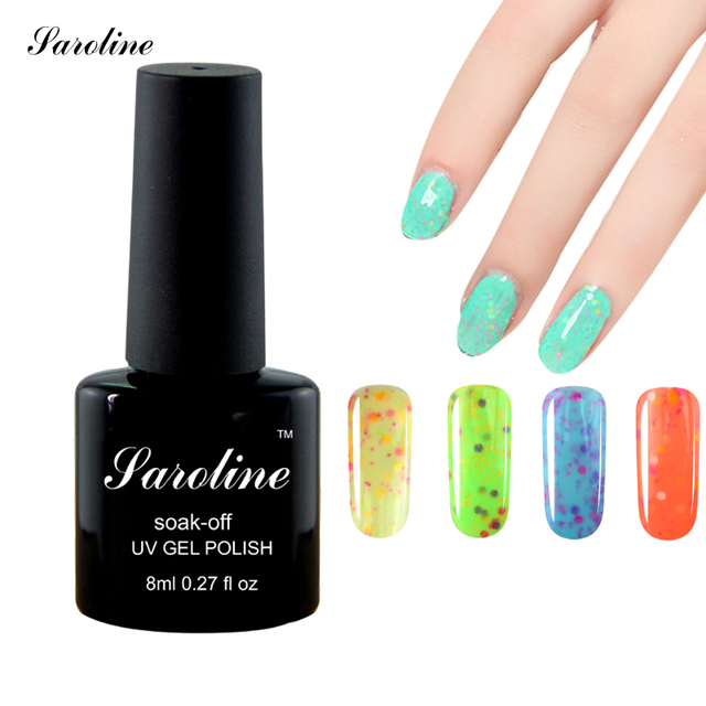 Saroline Semi Permanent Cheese Candy Gel Nail Gel Polish Novelties Nail Design Rainbow Gel Varnish Little Things for Manicure