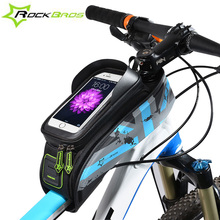 ROCKBROS Bicycle Smart Phone5.8/6.0 Inch Bag MTB Road Bicycle Bike Bags Rainproof Front Tube Frame Saddle Bags RK0016