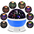 Rotating Led night light starry sky Star Lighting table lamps for bedroom Kids Baby Bedside Sleep Lamp Children Gift USB Plug